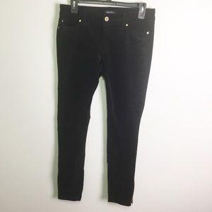 WHBM Black Velvet Skinny Pants Size 4R